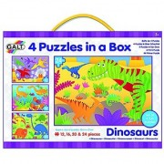 Galt Toys Four Dinosaurs Puzzles in a Box (72 Piece)