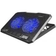 Cooler Laptop Tracer Snowman TRASTA44451, 2 ventilatoare (Negru)