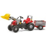 Tractor Cu Pedale Si Remorca Copii Rolly Toys 811397
