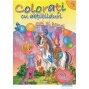 Colorati cu abtibilduri 5 Cai si ponei