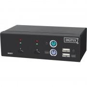 Digitus KVM Switch, USB + PS/2, 2-fach