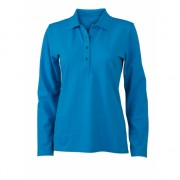 Dames stretch turquoise roze lange mouw