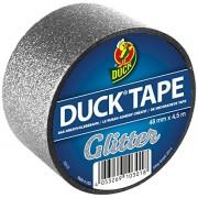 Ducktape 221306 Cinta Adhesiva de Tela, 48 mm x 4.5 m, Reluciente, Plata