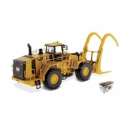 Diecast Master DM85917 CAT 988K WHEEL LOADER FOREST W/LOG GRAPPLE 1:50 Modellino