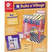 Classic Build A Village Firehouise Building Kit