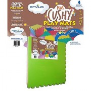 EnviUs Cushy Plus Play Mat Cube 4 : Formamide Free Ultra Thick & Large 4 Pieces (4 Colors) 24 x 24 x 9/16 (Cushy Plus Series w/ FREE Borders)
