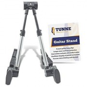 Tunne Guitar Stand for Acoustic Electric or Bass Keeps Your Instrument Safe and Secure (Silver)