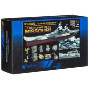 Modellino WWII US Navy Battleship BB-63 Missouri Scala 1: 350