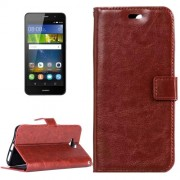 Huawei Y6 Pro Crazy Horse Texture Horizontal Flip Leather Case with Magnetic Buckle & Holder & Card Slots & Wallet & Photo Frame(Brown)
