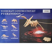 Desconcertado 3104 Gran Pteranodon 3D Madera Natural Puzzle - 23 Piezas