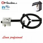 Paellero profesional de gas con termopar de Garcima 30 cm / 1 fuego, Gas butano/propano
