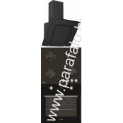 SIMFER 3423 60 fekete - 6400 NGSSP - 6106 OERSP Beépíthetõ sütõ üveg-gázfõzõlap páraelszívó szett