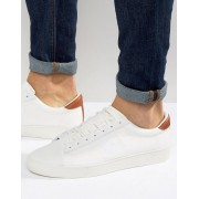 Fred Perry Spencer Knit/Leather Trainers - White (Sizes: UK 12)