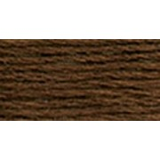 DMC Satin Floss 8.7yd-Very Dark Coffee Brown