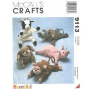 McCall's 9113 - Bambini Animal Bean Bags - 5 Patterns by McCall Pattern Company