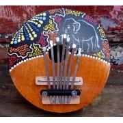 Karimba Kalimba Eléphant En Bois Piano A Pouce Senza Peinture Aborigène