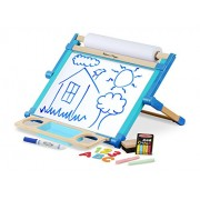 Melissa and Doug Double Sided Magnetic Tabletop Easel, Multi Color