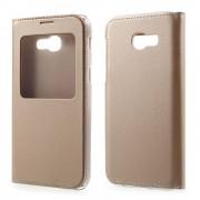 Samsung Galaxy A5 (2017) Window View kunstleren Flip Case Hoesje - Goud