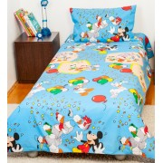 Lenjerie pat copii 1 persoana-Mickey