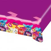 Fata de masa din plastic pentru petrecere copii - Furby, 180 x 120 cm, Amscan 552459, 1 buc