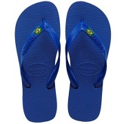 Havaianas Marine Blue Brasil Logo Flip Flops - (39/ BR)