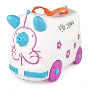 Toys Bhoomi 2 in 1 Push & Pull Along Ride-On Travel Luggage Case for Junior World Travelers (White)