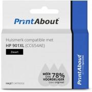 HP CC654AE (nr 901XL) inkjet zwart Huismerk