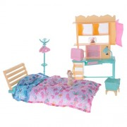 MagiDeal 1:6 Dolls Furniture Playkit Bedroom Bed Shelf Playset for Barbie Doll Toys