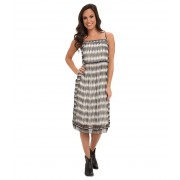 Lucky Brand Ingenue Dress Black Multi