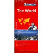 Wegenkaart - landkaart 701 The world – Wereld | Michelin
