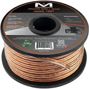 Mediabridge 16AWG 2-Conductor Speaker Wire (100 Feet Clear) - Spooled Design with Sequential Foot Markings (Part# SW-16X2-100-CL )