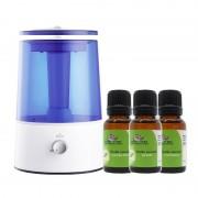 Pack Zen Kinefis: Humidificador por Ultrasonidos + Aceites Esenciales (lavanda, naranja dulce y mandarina): Calma, relajación y armonía
