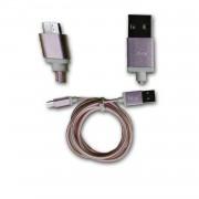 Hp Elite X3 Câble Data Rose 1m En Nylon Tressé Ultra Résistant (Garantie 12 Mois) Micro Usb Pour Charge, Synchronisation Et Transfert De Données By Ph26 ®