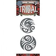 Tinsley Transfers Circles Tribal Temporary FX Tattoo Black