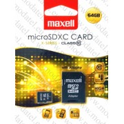 Micro SDHC card + Adapter (64GB class 10) MAXELL