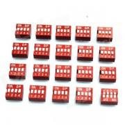 DIY 4-Position 8-Pin 2.54mm Pitch Dip Switches (20-Piece Pack)
