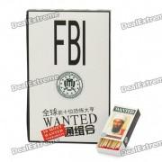 FBI 10 Most Wanted Series Match Sticks (10-Box Pack)