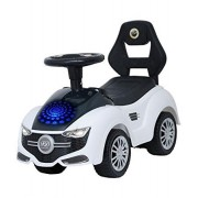 Brunte white push kids Ride-On Car with Disco Lights and Sound good quality