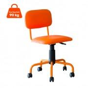 Cadeira de Escritório Giratória Color Pistão a Gás Corano Laranja