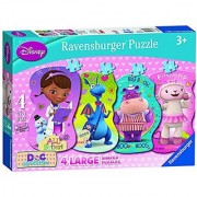 Ravensburger Doc McStuffins Helping Friends 4 Shaped Puzzles in a Box (10 12 14 16 Piece)