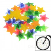 Colorful Glow-in-the-Dark ABS Bike Bicycle Wheel Spoke Star Beads Decoration - Multi-Color