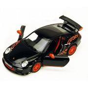 2010 Porsche 911 Gt3 Rs, Black Kinsmart 5352 D 1/36 Scale Diecast Model Toy Car