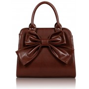 Kabelka LS005A- Brown Bow Tote Bag