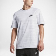 Nike Partes De Arriba Manga Corta Nike Sportswear Advance 15 Blanco,Jaspeado,Negro