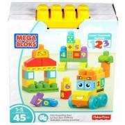 Конструктор Mega Bloks - Училищен автобус 123 - Mattel, 175031