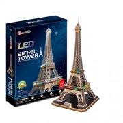 3D Puzzle Eiffel Tower Torre Eiffel París Francia LED Cubic Fun