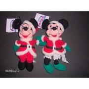 Mickey And Minnie Santa 1997 - Disney Mini Bean Bag Plush