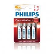 Pila Alcalina AA Philips Power pack 4 uds (LR06)
