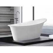 Freistehende Badewanne Haiti ovale Acryl Wanne optional mit freistehender Arm...