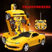 Kiditos New Transformers Bumblebee Remote Control Action Figure Transformation Robots